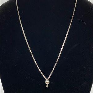 "COPY - Sterling Drop Necklace/36"""